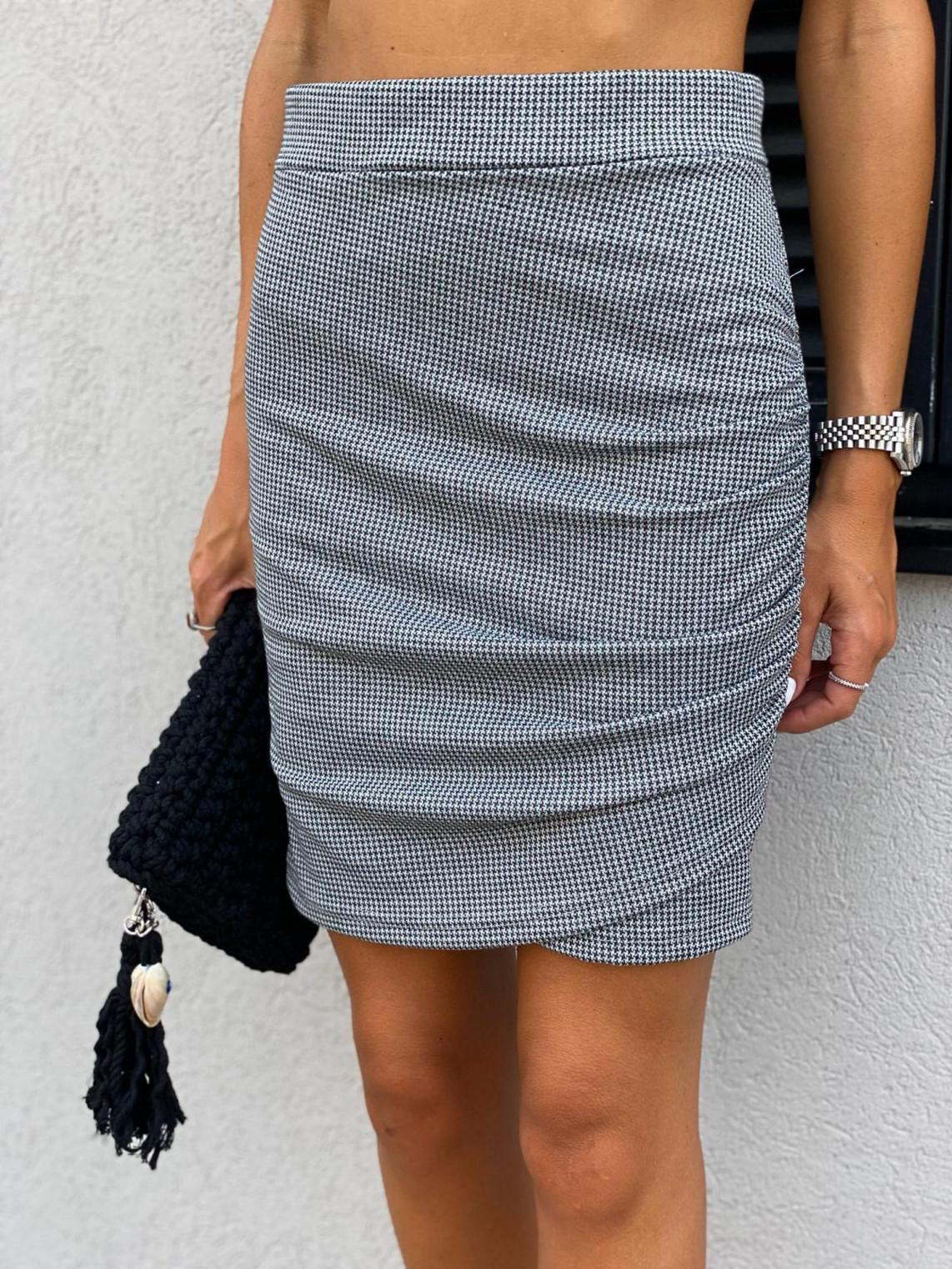 חצאית מעטפה כיווץ בצד