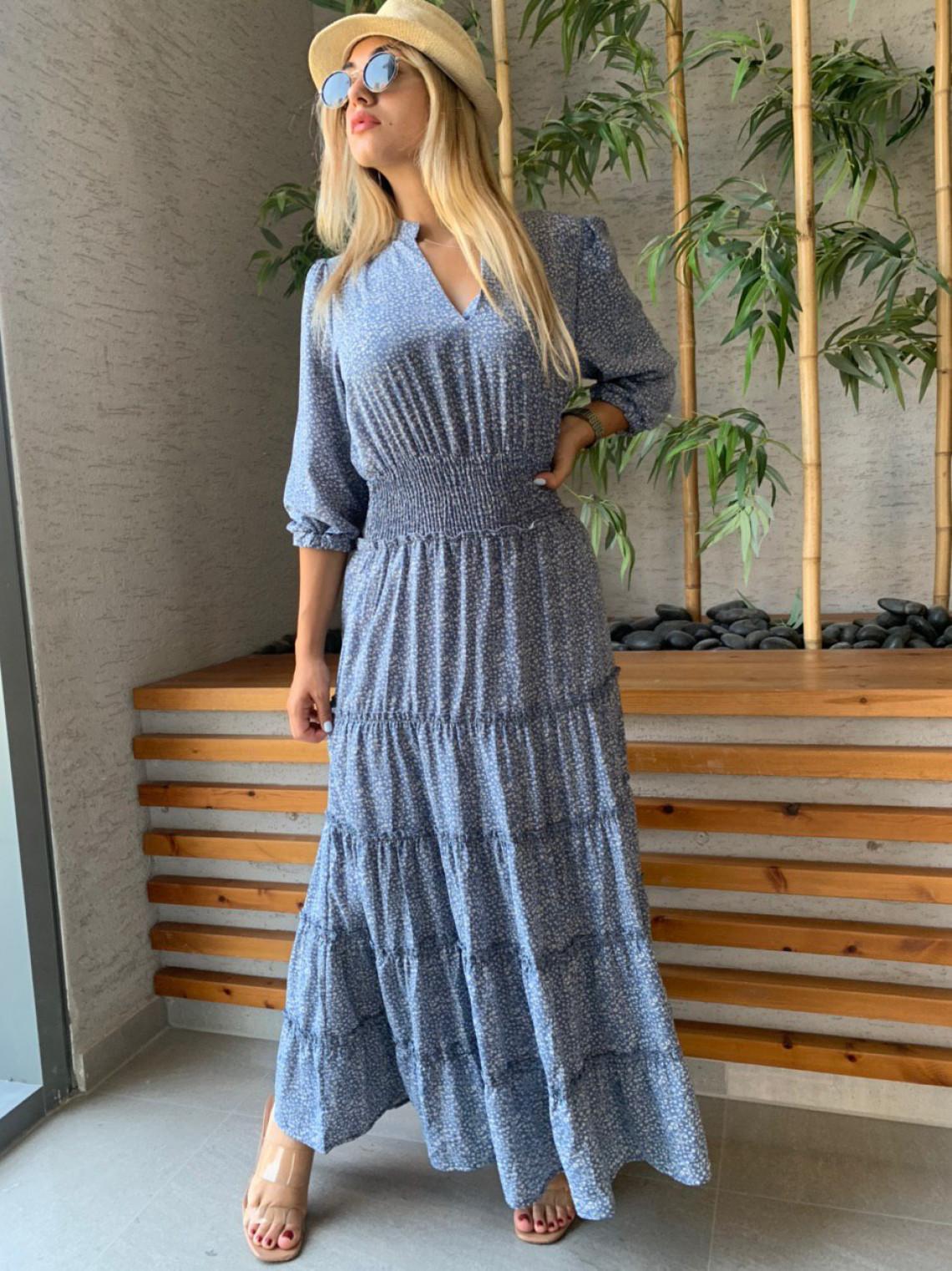 שמלת מקסי ציפקה