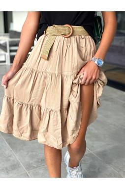 חצאית חגורה ארוכה