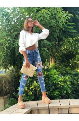 ג'ינס קרעים בייקר