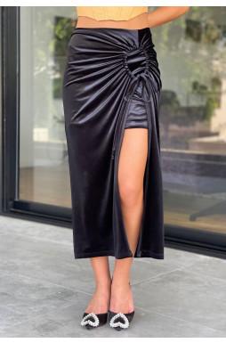 חצאית כיווץ בד קטיפה