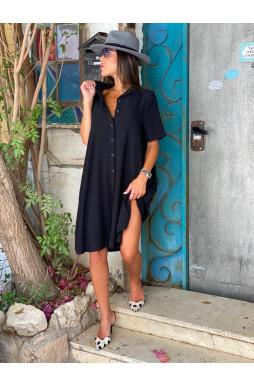 שמלת אוברסייז כפתורים