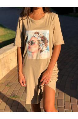 שמלת דפוס Chic