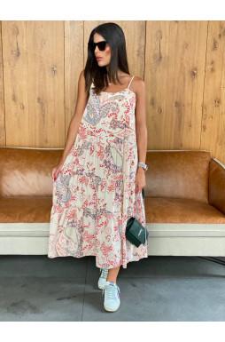 שמלה מקסי וולן באבלס מודפס
