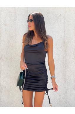 שמלה רבידה כיווץ