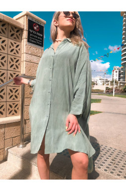 שמלה האובר סייז מכופתרת