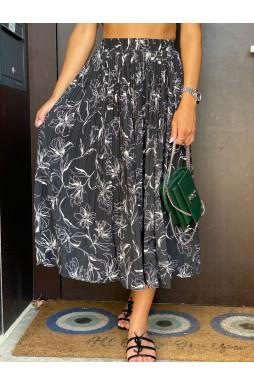 חצאית פליסה פרח