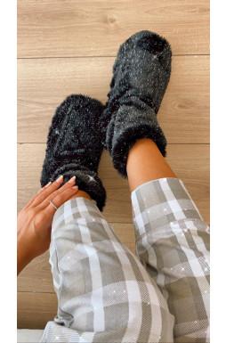 נעלי בית מעויינים פרווה