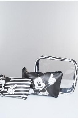 תיק איפור Mickey mouse stripes