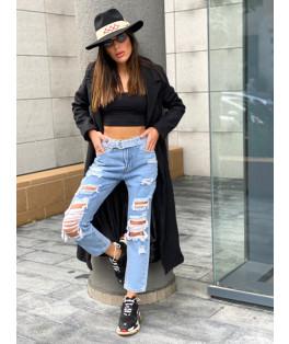 ג'ינס בהיר קרעים