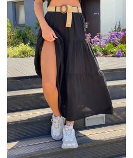 חצאית מקסי חגורה