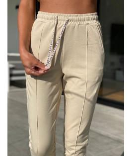 מכנסיים פס אמצע גומי חגורה
