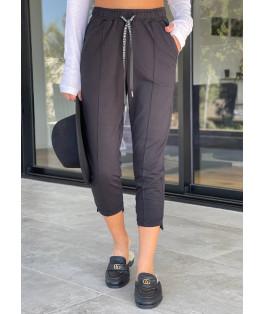מכנס פס אמצע גומי חגורה