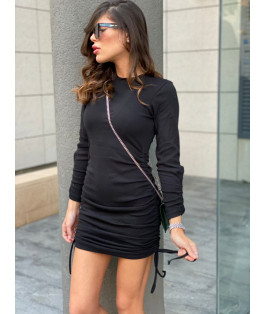 שמלת כיווצים שרוול ארוך