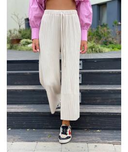 מכנסיים פליסה רחב