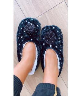 נעלי בית קרסוליה פונפון